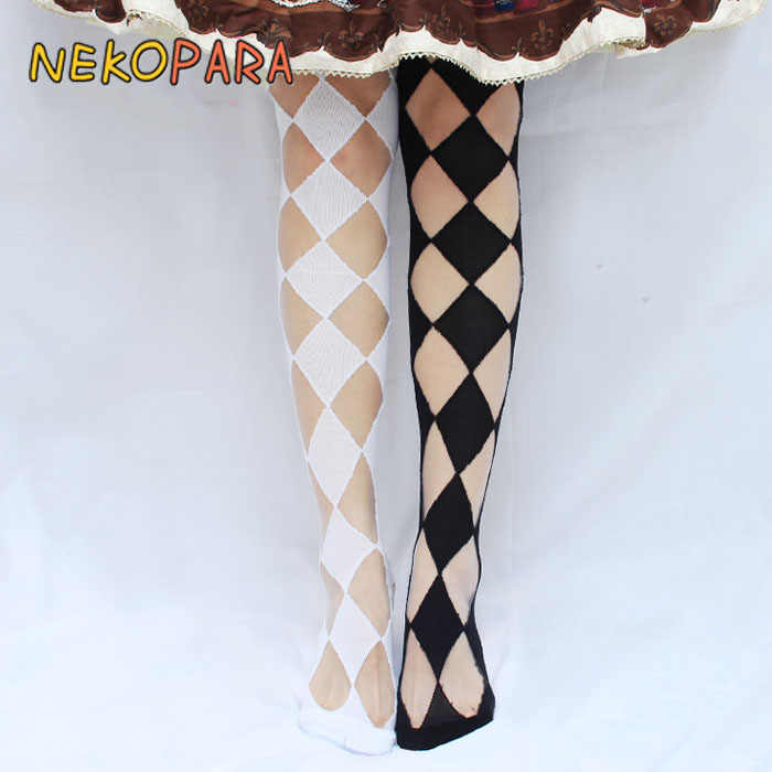 766af4b97d8 Diamond Glass Silk Cute Women s Lolita Over-knee Stockings Thigh High  Stockings Thin for Summer