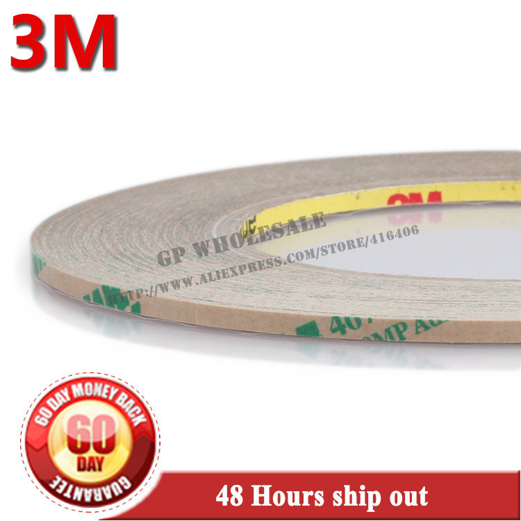 (0.06mm Thickness), 3mm*55 meters 3M 467MP 200MP Double Sided Sticky Tape, for LCD /Touch Screen Digitizer Adhesive Super Thin 50pcs lot oca optical clear adhesive double side sticker for note 8 n950 lcd digitizer thickness 125um