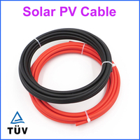 50m 100m 4mm2 MC4 Solar Cable UL CUL TUV VDE Certifiction Black & Red Copper Wire solar PV cable 4mm2 12AWG