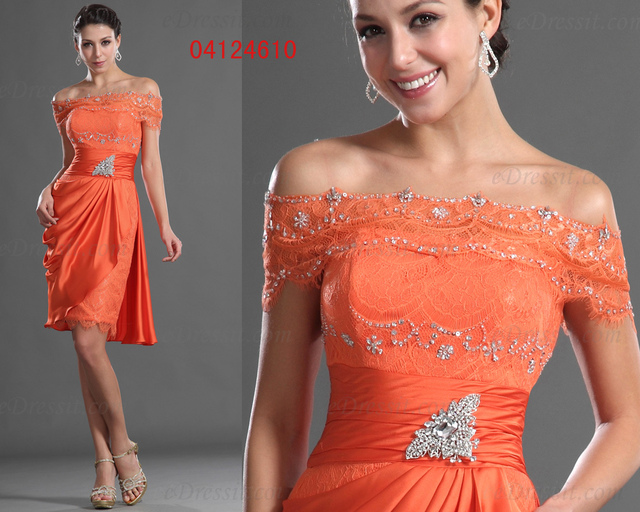 68203ad317 eDressit Charming Over Lace Top Orange Party Dress Cocktail Dress Robe  Courte (04124610)