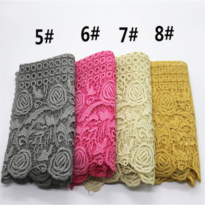 Image 3 - High quality flower print lace scarf fashion soft viscose cotton shawl Scarf Muslim hijabs scarf independence packing 10pcs/lot