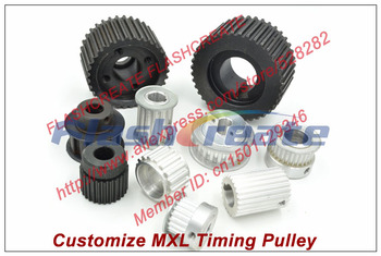 Specializing in the production of all kinds of MXL timing pulley pitch 2.032mm MXL Timing belt pulley customize MXL pulley