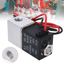 1/8 2 Way 2 Position Electric Valve Normally Closed Pneumatic Aluminum Electric Solenoid Air Valve DC 12V Solenoid Valve
