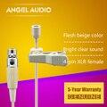 Бесплатная доставка плоть цвет мини-xlr TA4F 4PIN разъем Lavalier нагрудные микрофон для SHURE беспроводного передатчика поясного