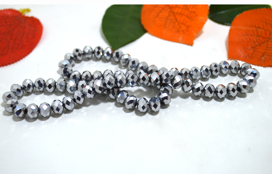 Dull Silver plated Color 2mm,3mm,4mm,6mm,8mm 10mm 12mm 5040# AAA Top Quality loose Crystal Rondelle Glass beads
