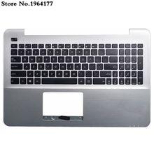 98% Новый США клавиатура Упор для рук верхний чехол для ASUS A555 A555L X555 K555 K555L X555L Y583L W519L серебро