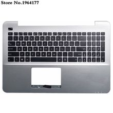 98% nowy klawiatura amerykańska górna obudowa do opierania dłoni dla ASUS A555 A555L X555 K555 K555L X555L Y583L W519L srebrny