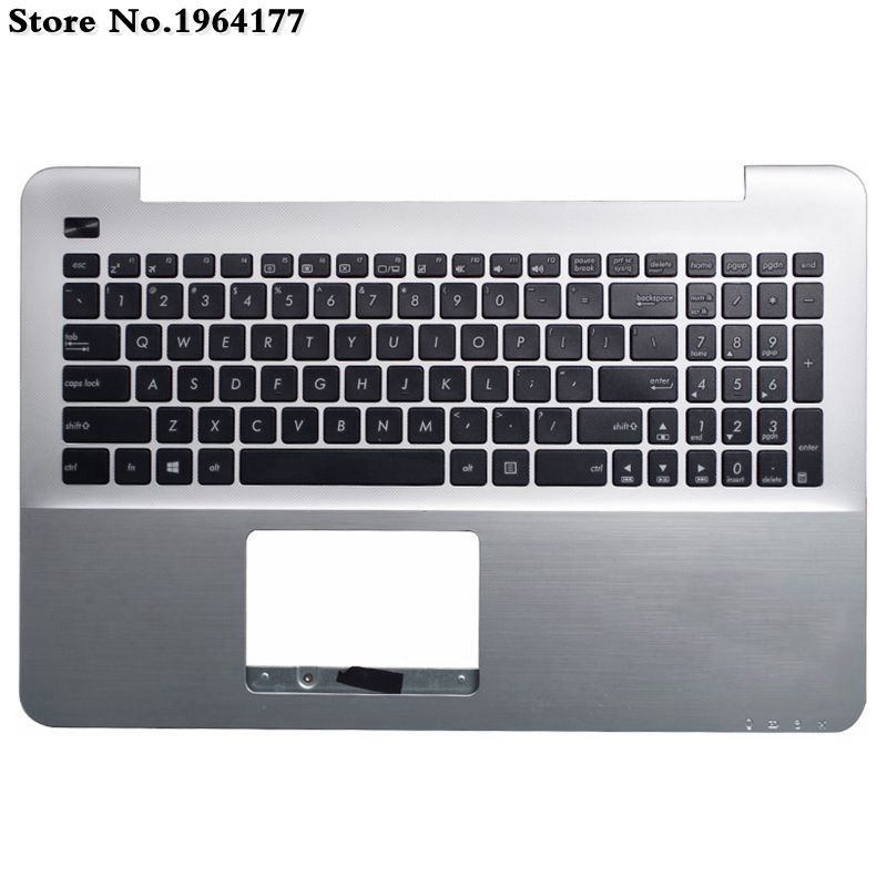 US Keyboard Palmrest Upper Case For ASUS A555 A555L X555 K555 K555L X555L Y583L W519L SILVER