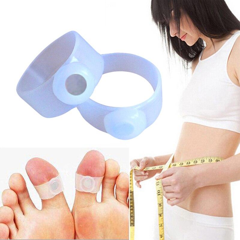 2 Stücke Silikon Magnetische Therapie Abnehmen Produkte Fuß Massage Kappe Ring Durable Halten Abnehmen Gesundheit Kreis Verlieren Gewicht Brennen Fett Schönheit & Gesundheit Gesundheitsversorgung