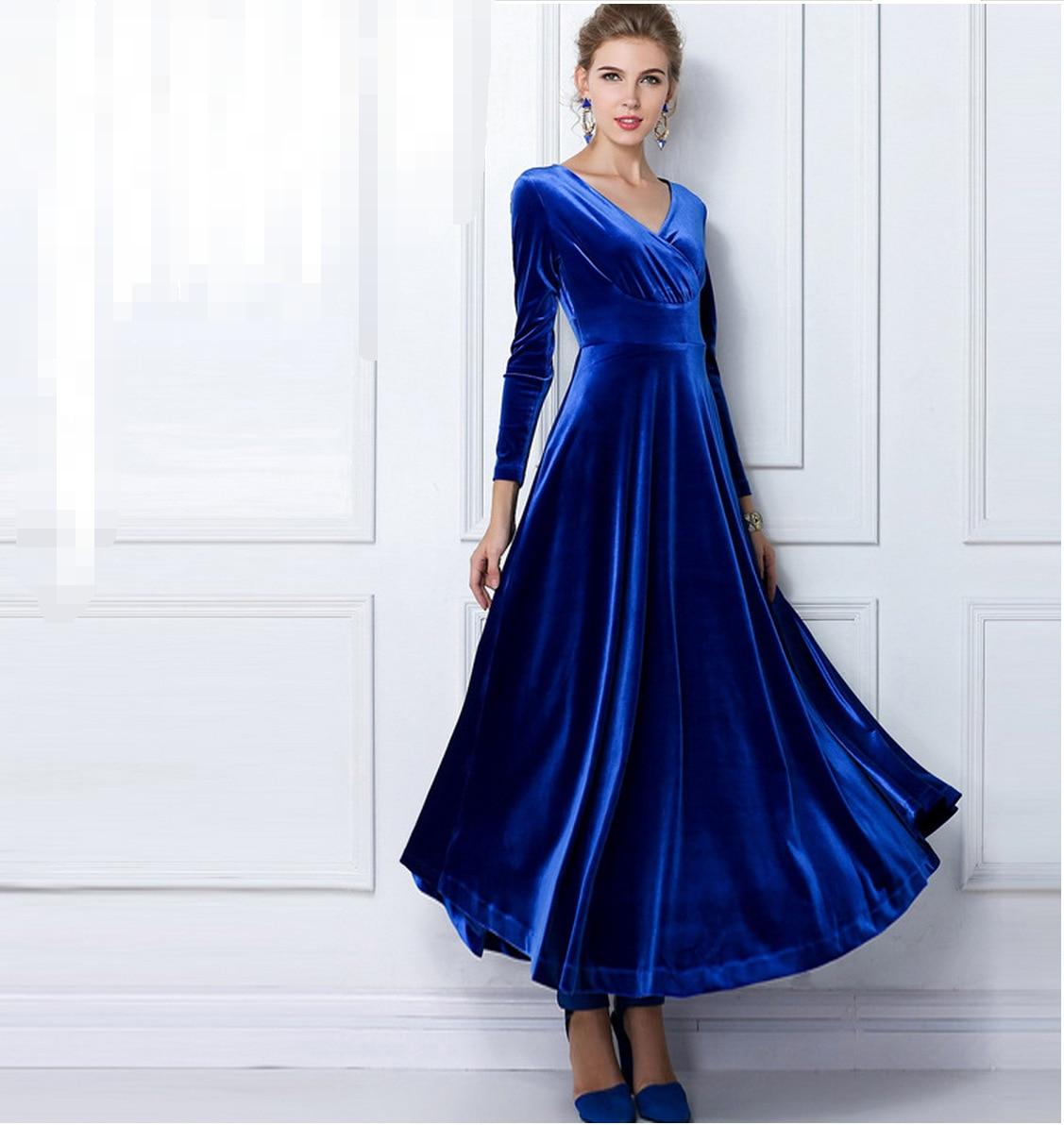 2019 autumn winter dress women elegant casual long sleeve