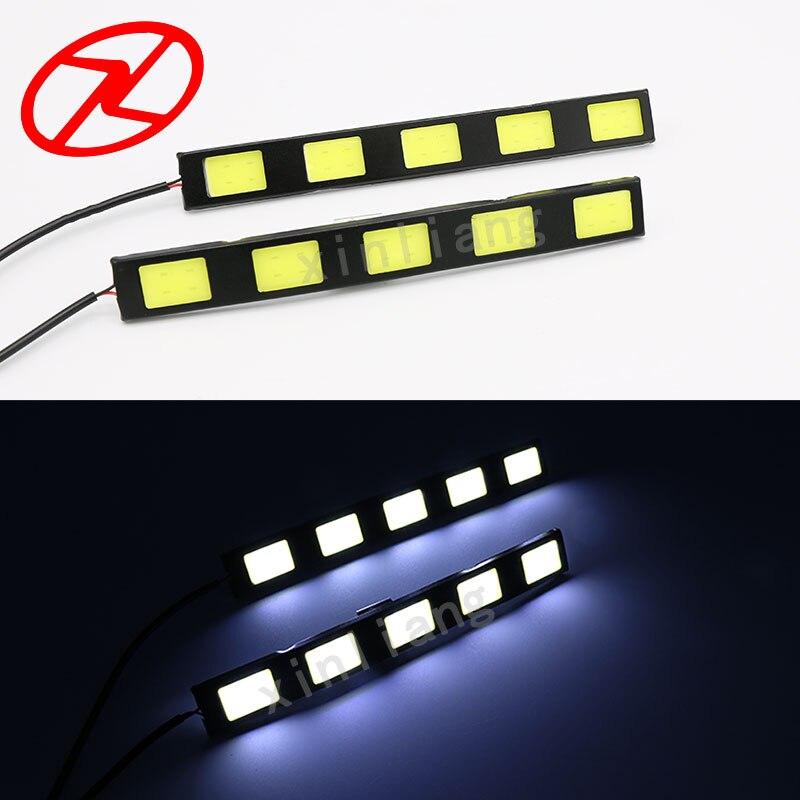 2шт высокое качество Водонепроницаемый дневного света DRL 12 В Универсальный автомобиль дальнего света LED дневной свет 6000К