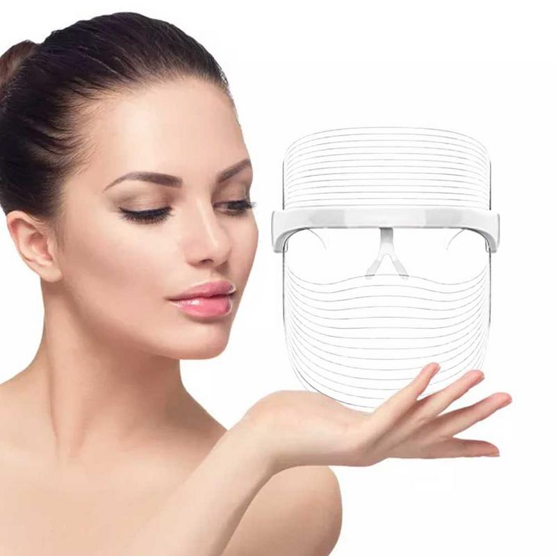 New Light 3 Colors Led Facial Mask Women Face Beauty Care Therapy Photon Whitening Firming Skin Anti-Aging