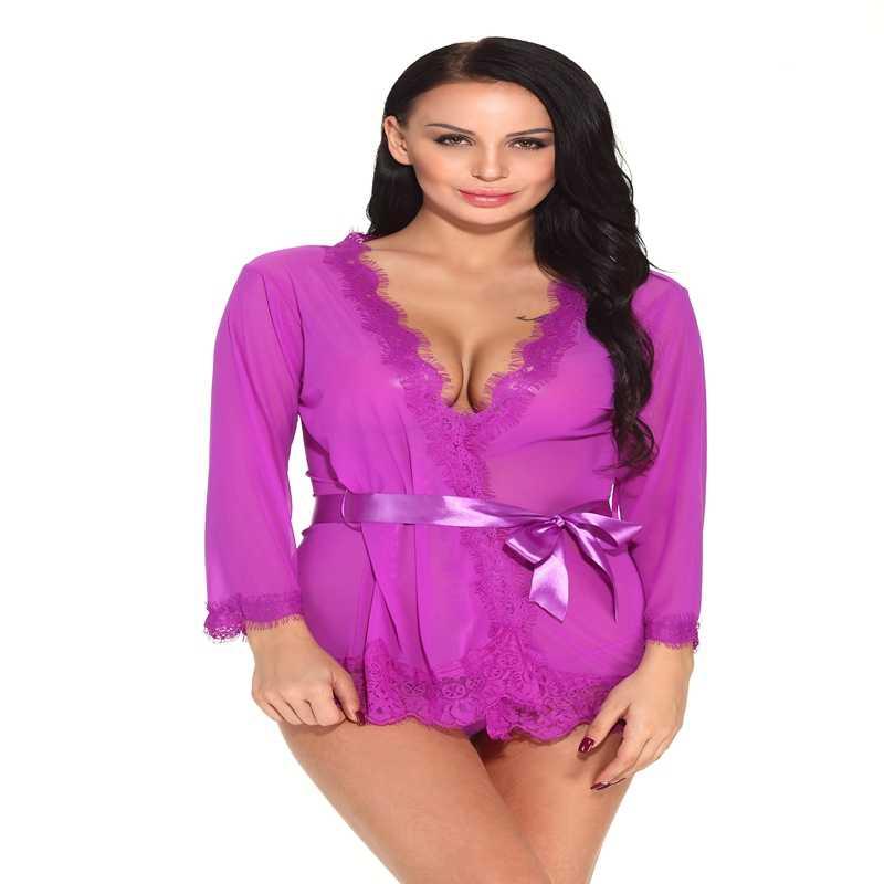 4ec4d8827a0d Pijamas de mujer de encaje transparente Sexy camisón bata de dormir erótico  vestido de noche ropa de dormir porno Pijamas de mujer camisas de dormir ...