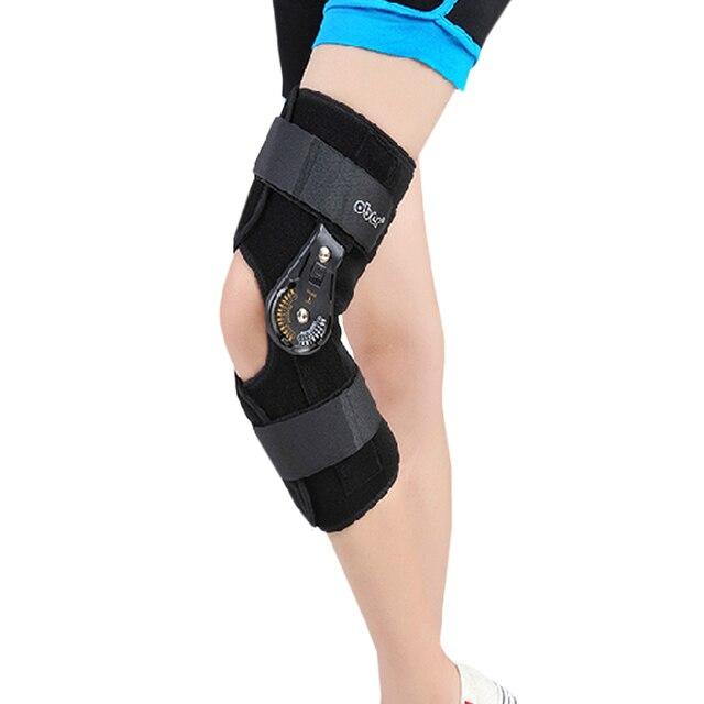 Orthopedic Hinged ROM Adjustable Sports Knee Brace Support Splint Stabilizer Wrap Sprain Post-Op Hemiplegia Flexion/Extension