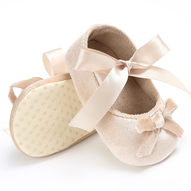 New Solid Cute Baby Girls First Walkers Shoes Butterfly Bow Lovely Princess Girl Shoes All Seasons Kids Shoes