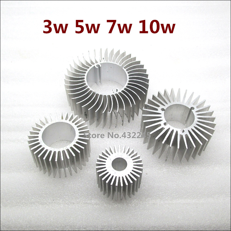 Free Shipping 10 pieces 3w 5w 7w 10w Pure aluminium heat sink for led lamp cooling DIY Led Light fixture