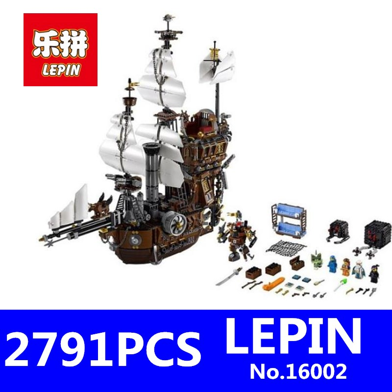 LEPIN 16002 2791pcs Pirate Ship Metal Beard's Sea Cow Model Building Blocks Bricks Toys for Children Boys Gifts Compatible 70810 free shipping lepin 2791pcs 16002 pirate ship metal beard s sea cow model building kits blocks bricks toys compatible with 70810