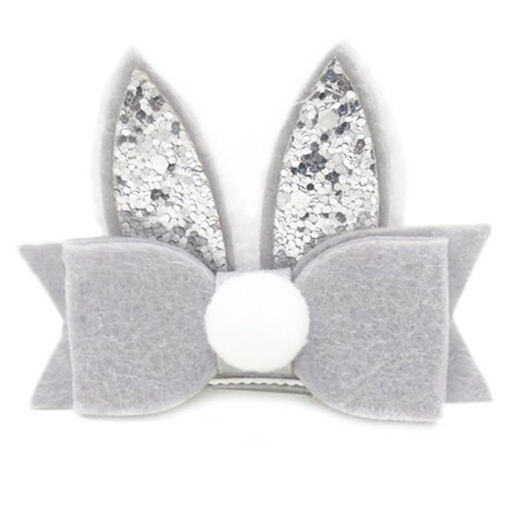 1PC Baby Girls Toddler Kids Sequined Rabbit Ear Hair Clip Bow Hairpin Barrette