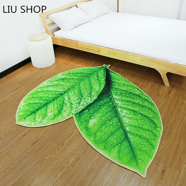 LIU Creative green tree leaves mat personality thickening sponge ...