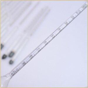 Image 5 - 14 sztuk/partia 0.6 2/m3 szklane hydrometry laboratorium chemiczne szklane densytometry miernik gęstości densymetru cieczy hydrometr
