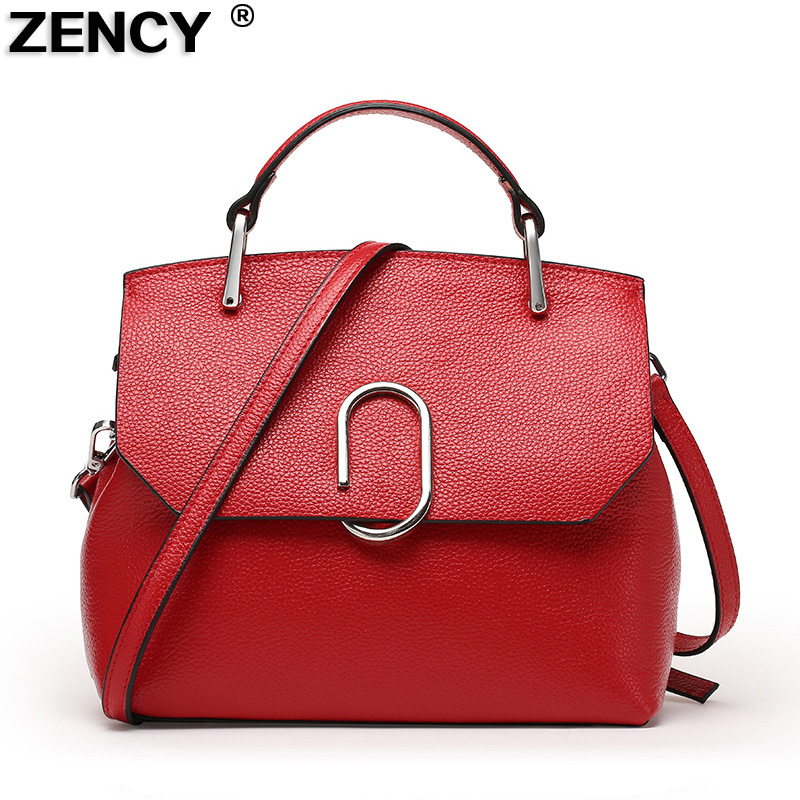 2018 New Fashion Famous Brand 100% Genuine Leather Designer Women Shoulder Bags Real Leather Tote Bag Messenger Bags