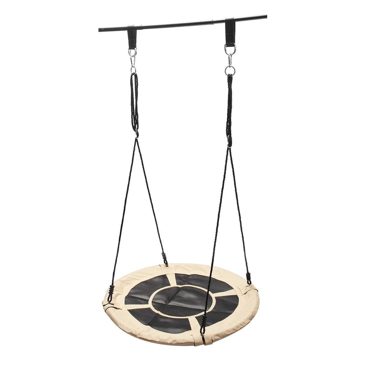 """40 """"100 cm duża pojemność dla dzieci na świeżym powietrzu okrągłe gniazdo wiszące liny drzewo huśtawka dzieci ogród zagraj zabawki huśtawki 8 kolory do wyboru"""