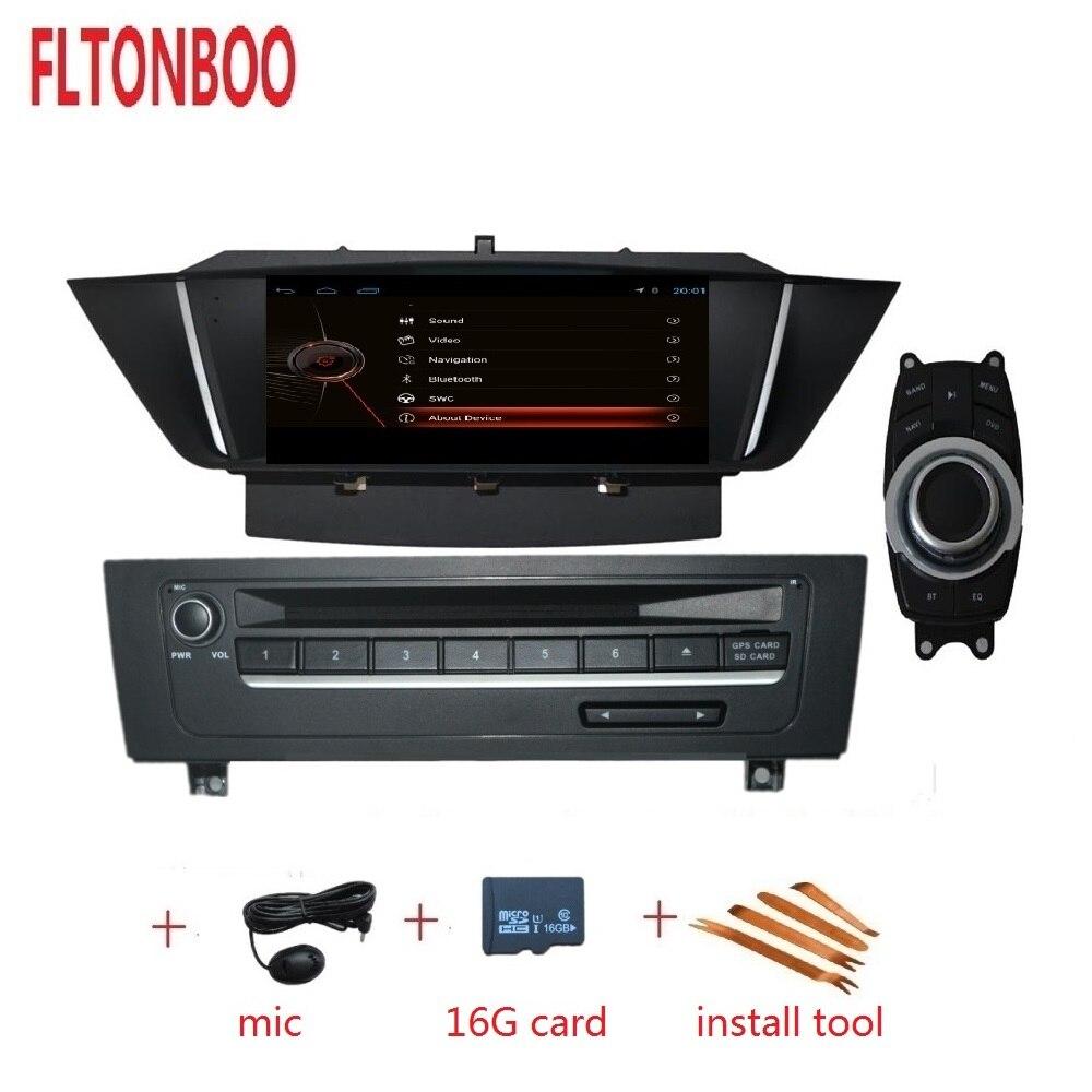 Polegada android 9 9 para BMW X1 E84 2009-2015 car dvd player, GPS de Navegação, Bluetooth, rádio, RDS, volante, tela sensível ao toque, idrive