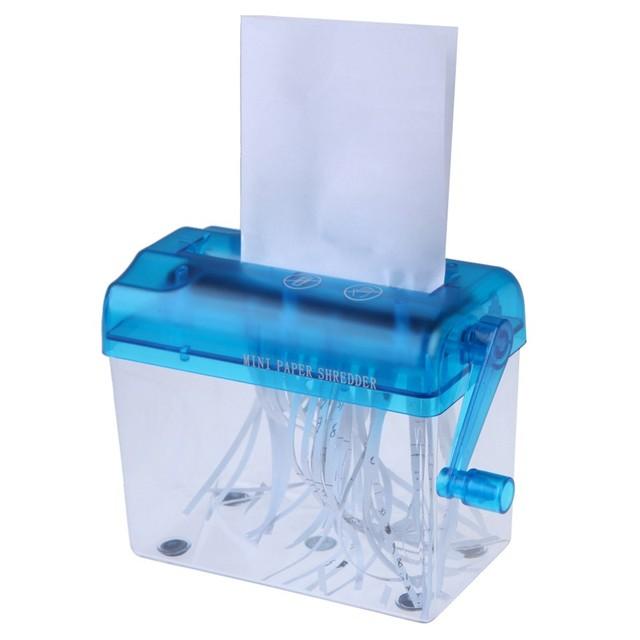 Mini hogar trituradora de papel manual de la mano trituradora de papel simple Envío Libre