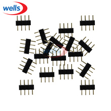 100pcs 4 Pin RGB Connector Adapter needle male double 4pin LED 5050  strip