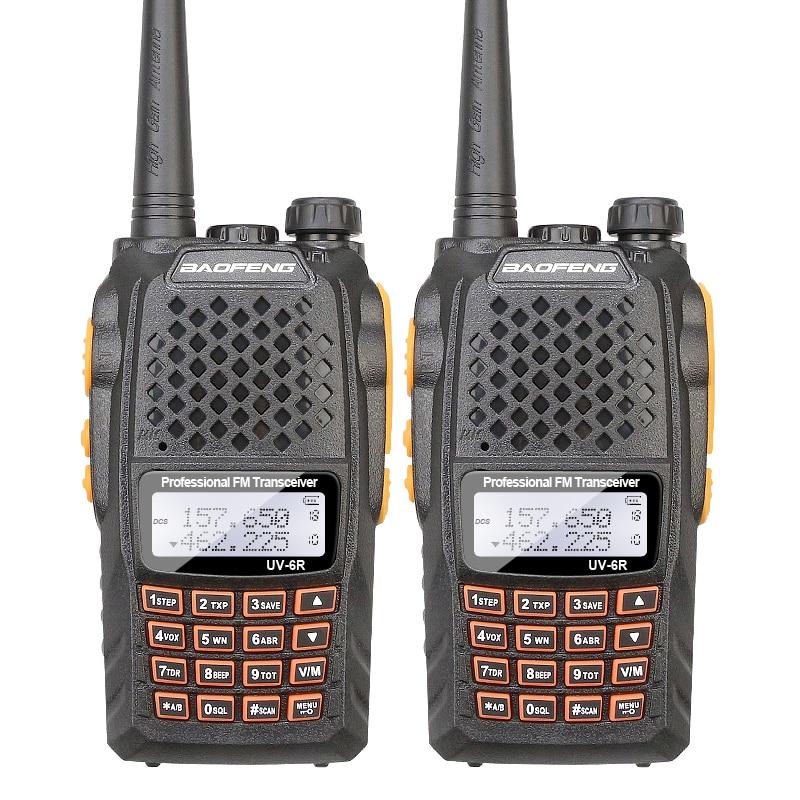 2PCS/Lot High Quality Dual Band Two Way Radio BAOFENG UV-6R With 5W Power VHF UHF Baofeng Uv6r Walkie Talkie