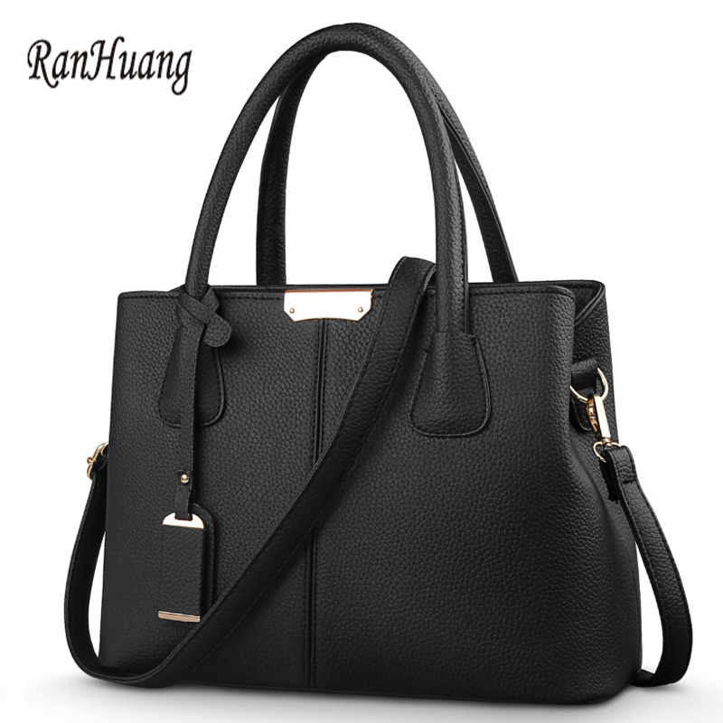 ФОТО RanHuang Women Fashion Thread Handbags 2017 PU Leather Shoulder Bags 8 Colors Women Messenger Bags Desginer bolsa feminina