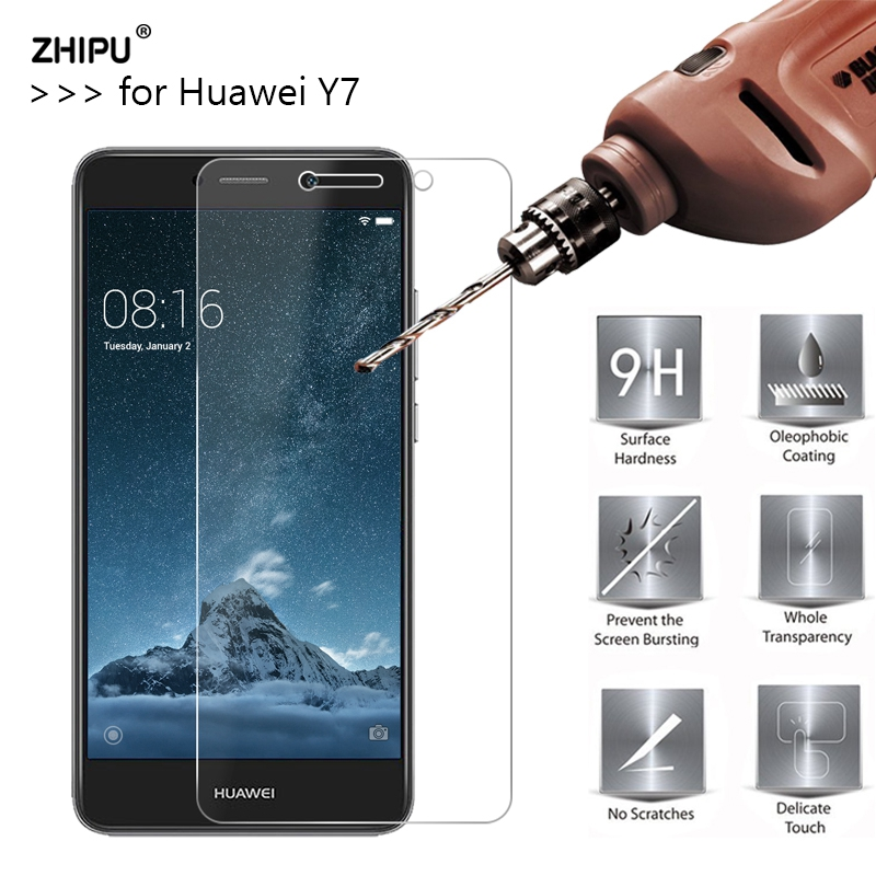 2.5D 0.26Mm 9H Premium Tempered Glass For Huawei Y7 Display Protector Toughened Protecting Movie For Huawei Y7