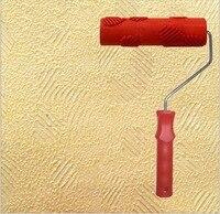 Diatom sızmak araçları duvar tablosu aracı 7 inç kauçuk kabartmalı rulo kolu ile duvar dekorasyonu için no. 016