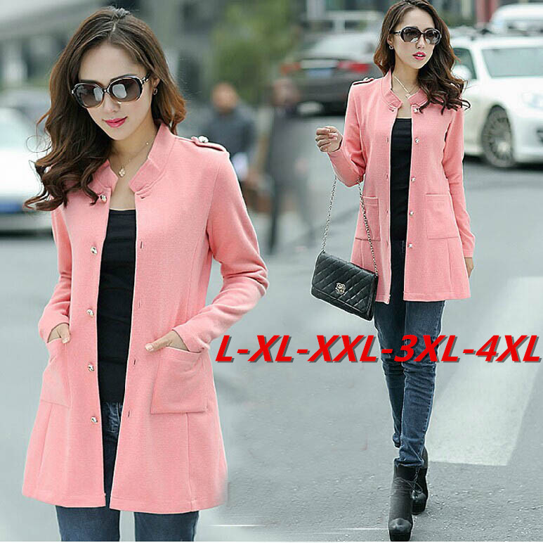 Red,Blue,Pink,Orange L~3XXXL,4XL! 2015 New Autumn Winter Big Plus ...