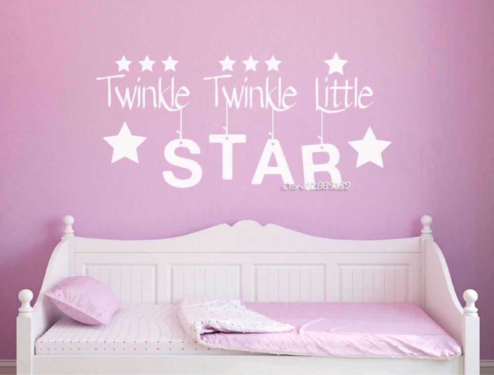 Twinkle Twinkle Litter Wall Stickers Wal Murs For Kids ...
