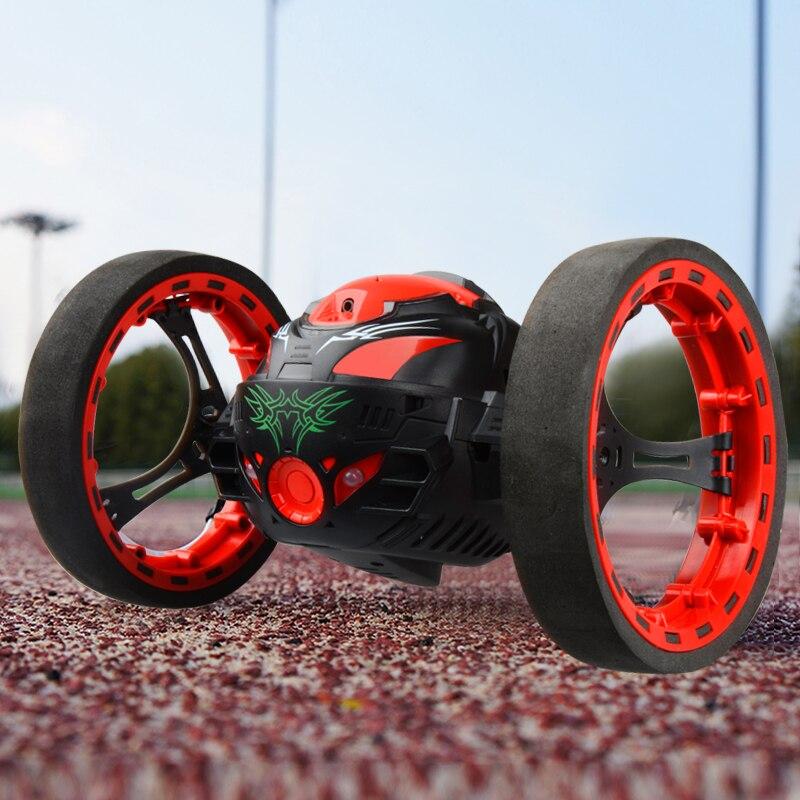Mini carros peg sj88 salto rc carro 2.4 ghz carro rodas flexíveis rotação led luz controle remoto mini carros brinquedos