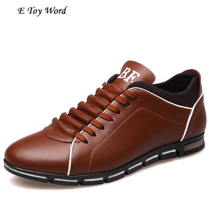 Più il formato 37-48 Degli Uomini di Marca di Scarpe Inghilterra Tendenza Casual Scarpe Per Il Tempo Libero Scarpe In Pelle Traspirante Per Il Maschio Footear Mocassini scarpe Flat
