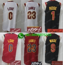 0ca6f82a80c Signature Free shipping A+++ quality Mens Adult #23 LeBron James 0 Kevin  Love 5 JR Smith 2 Collin Sexton signed Jersey Cleveland
