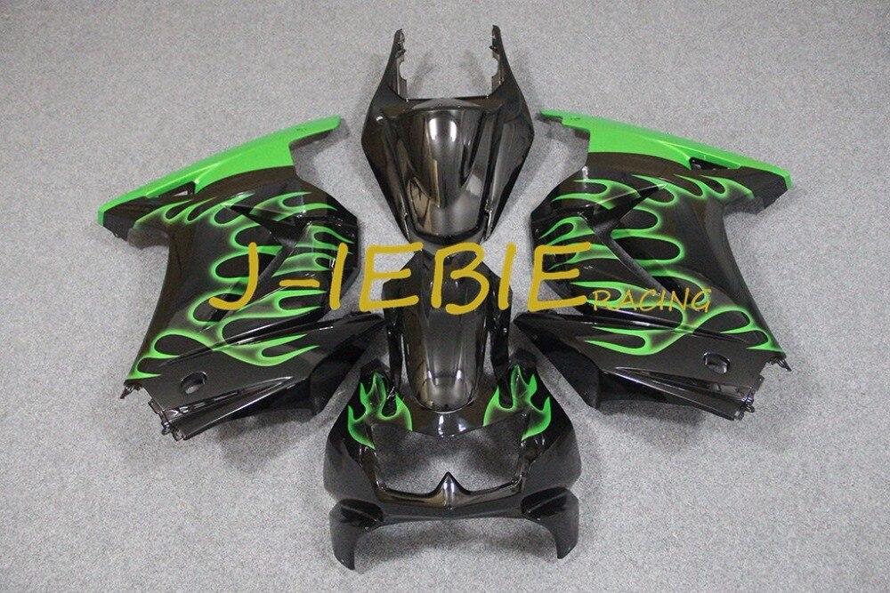 Black green fire Injection Fairing Body Work Frame Kit for Kawasaki NINJA 250R EX250 EX 250 R 2008 2009 2010 2011 2012