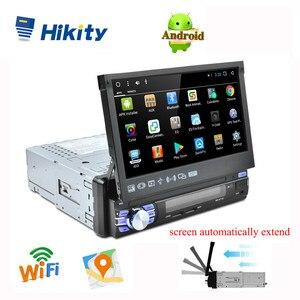 "Image 1 - Hikity 1 דין 7 ""רכב רדיו אנדרואיד אוטומטי נשלף Autoradio GPS ניווט Wifi מראה קישור רכב MP5 נגן תמיכה מצלמה"