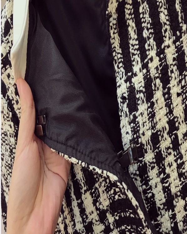 Dames Mode Femmes Nouvelle Jupe Longues Des Veste Laine Manches Pièces Costumes 2018 Manteau Gaze Automne Deux Costume À Noir De Irrégulière 5UIxqCfw