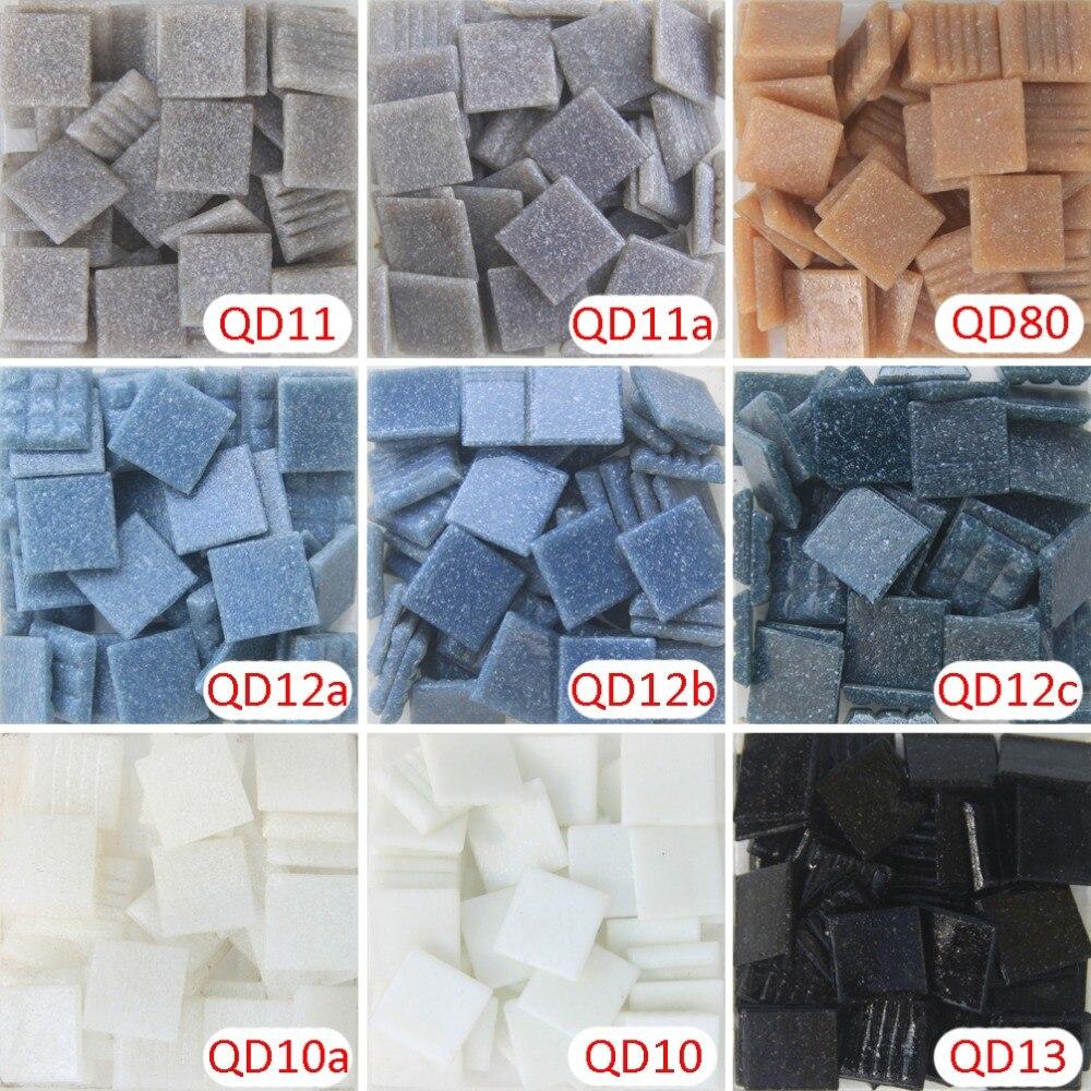200 gram/205 pcs 10 X 10mm Square Ceramic sky blue Mosaic , 1 X 1cm ...