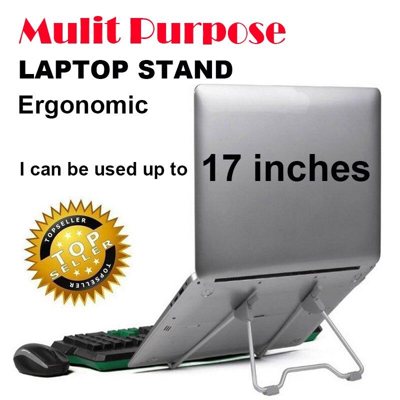 Mulit purpose dobrável suporte parágrafo notebook suporte cooler para computador portátil de refrigeração protable mesa portátil monitor titular 14