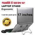 """Propósito Mulit suporte dobrável suporte para notebook cooler de refrigeração para o portátil mesa do laptop protable titular do monitor 14 """"15"""" 17"""""""