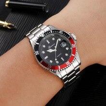 Luxury Brand Role Men's Watch Silver Stainless Steel Quartz Watches Men Waterproof Date Male Clock Man relogio masculino militar