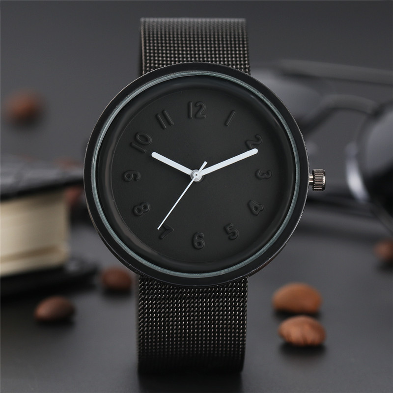 Simple Quartz Wristwatch Novel Smooth Silicone Dial Stainless Steel Mesh Band Unique Men Women Sport Watch Student Clock relogio skone fashion simple watches for women lady quartz wristwatch stainless steel band watch for woman relogio femininos