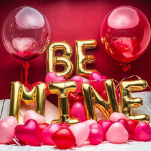 BOBO Transparent/Confetti Balloon Letter/Heart/Pink/Wedding/Party Balloons Big Helium Accessories Wedding Decoration