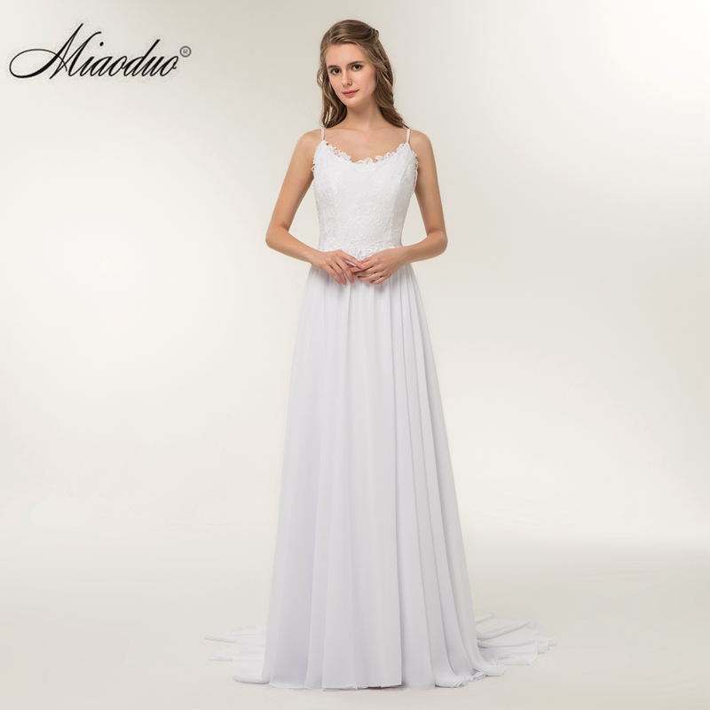 Miaoduo Vintage Mermaid Wedding Dress Full Length Scoop Neck Bridal ...