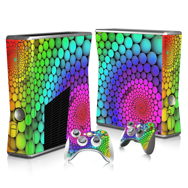 Colorful Skin Sticker Protector for Microsoft Xbox 360 Slim font b console b font and 2