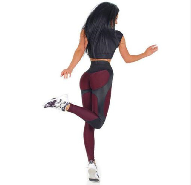 2bc48e6b9a62a New 2018 Women Leggings Fitness Adventure Time Patchwork Thick Legging High  Elastic Workout Leggings Sporting Pants